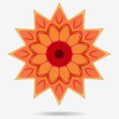 Vector eco icon, flower design element — Wektor stockowy