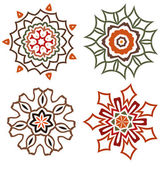 Abstract colorful vector flower icons, logo design — 图库矢量图片