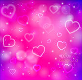 Abstract glow soft hearts — Stock Vector
