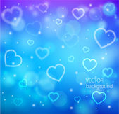 Abstract glow soft hearts — Vector de stock