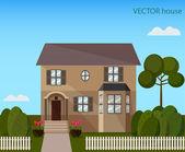 景观与漂亮的房子 — 图库矢量图片