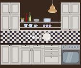 Vektor illustration av kök — Stockvektor