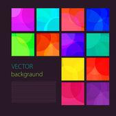 Multicolored squares, flat design — Stock Vector