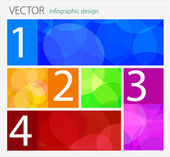 Vector Infographic flat design — Vector de stock