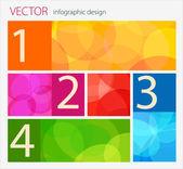 ベクトル インフォ グラフィック フラットなデザイン — ストックベクタ