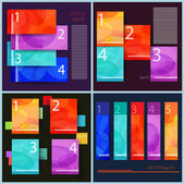 Set of abstract infographic — Stock Vector