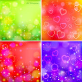 Backgrounds with hearts — Stock Vector