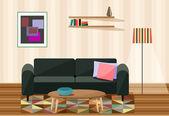 Vector illustration , living room  — Stock Vector