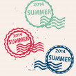 Stamp with Summer 2014 — Stock Vector #47485149