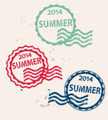 Stamp with  Summer 2014 — Stock Vector