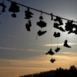 Shoes Hanging from Wire — Stock Photo #39791683