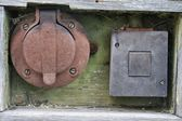 Old power outlet — Stock Photo