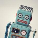 Vintage tin toy robot — Stock Photo #40629007