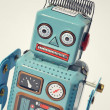 Vintage tin toy robot — Stock Photo