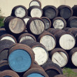 Stock Photo: Barrels at distillery