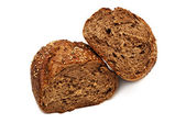 Fresh bread isolated, bread broken — Foto Stock