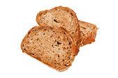 Fresh bread isolated, sliced bread — Stock Photo