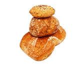 свежий хлеб изолированные — Стоковое фото