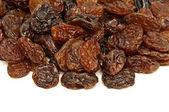 Raisins isolated on white background — Stock Photo