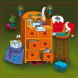 Santa's Workbench — Stock Photo