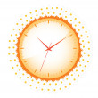 Clock with daisies — Stock Vector #37462261