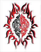 Demonen brand gezicht geest — Stockvector