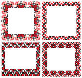 Ukrainian embroider frames pattern — Stock Vector