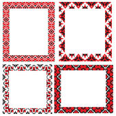 Frame pattern ukrainian embroider — Stock Vector