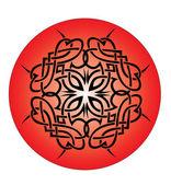 Pattern circle tattoo — Stock Vector