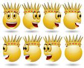 King smile web icon animation — Stockvektor