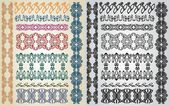 Art nouveau pattern collection — Vecteur