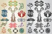 Element pattern art nouveau collection — Stock Vector