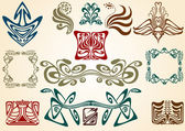 Art nouveau collect — Stockvector