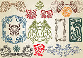 Collect art nouveau — Stock Vector