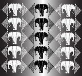 Elephant white texture — Stock Vector