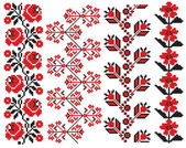Ukrainian embroider pattern element — Stock Vector