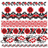 Ukrainian embroider — Stock Vector
