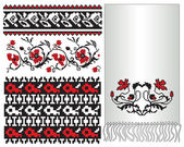 Ukrainian folk pattern embroider — Stock Vector