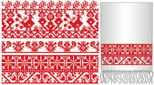 Ukrainian russian old embroider — Stock Vector