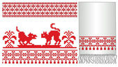 Ukrainian russian embroider — Stock Vector