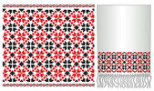 Ukrainian embroider pattern folk — Stock Vector