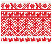 Folk russian embroidery — Stock Vector