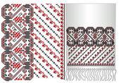 Ukrainian embroidery towel, folk pattern — Stock Vector