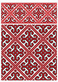 Ukrainian embroidery pattern — Stock Vector