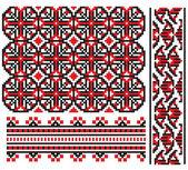 ウクライナ刺繍の要素 — ストックベクタ