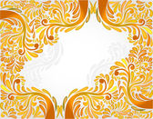 Yellow orange banner pattern background — Vector de stock