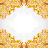 Yellow banner orange pattern background — Stock Vector