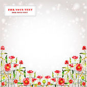 Poppy background glossy banner — Stock Vector