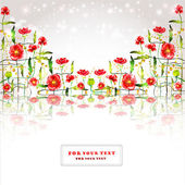 Poppy background color label glossy banner — 图库矢量图片