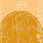 Easter yellow background egg banner — Stock Vector